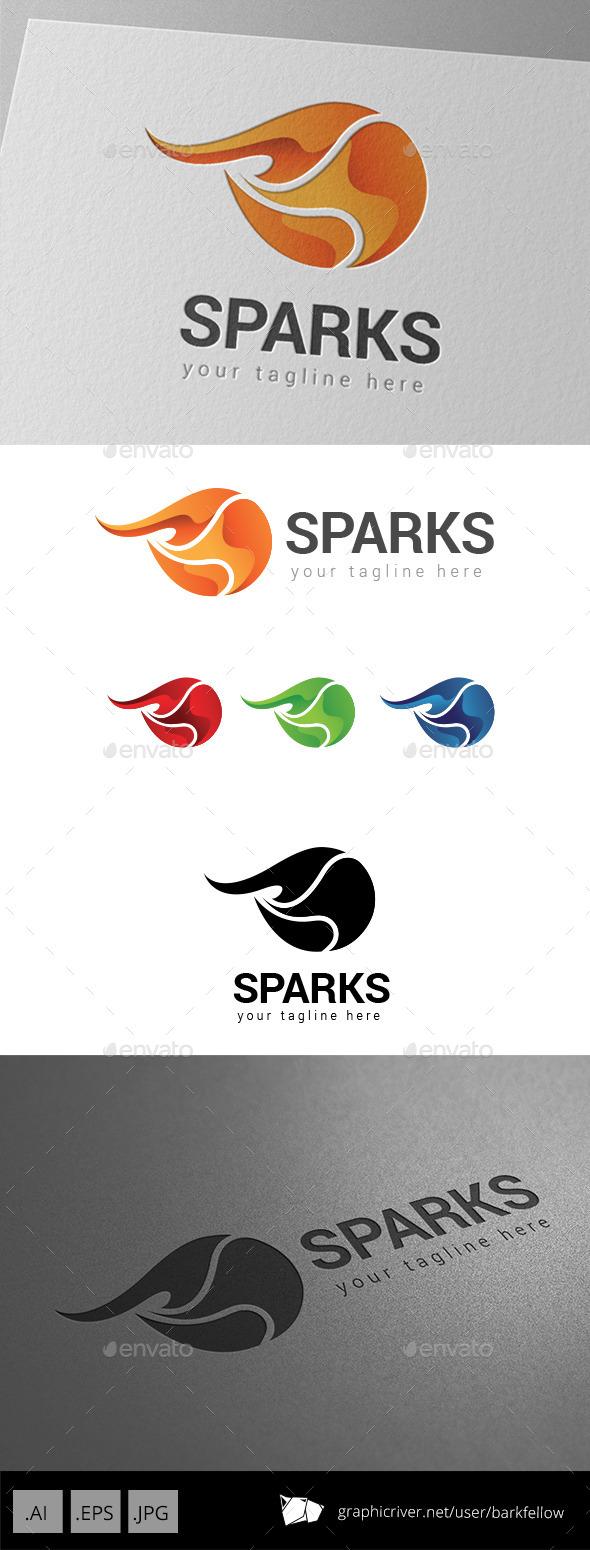 Fire Sparks Logo - Abstract Logo Templates