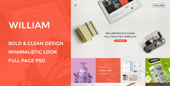 William – Multi-Purpose PSD Template