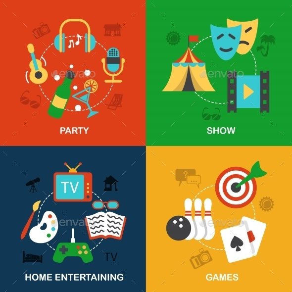 Entertainments Icons Flat - Concepts Business