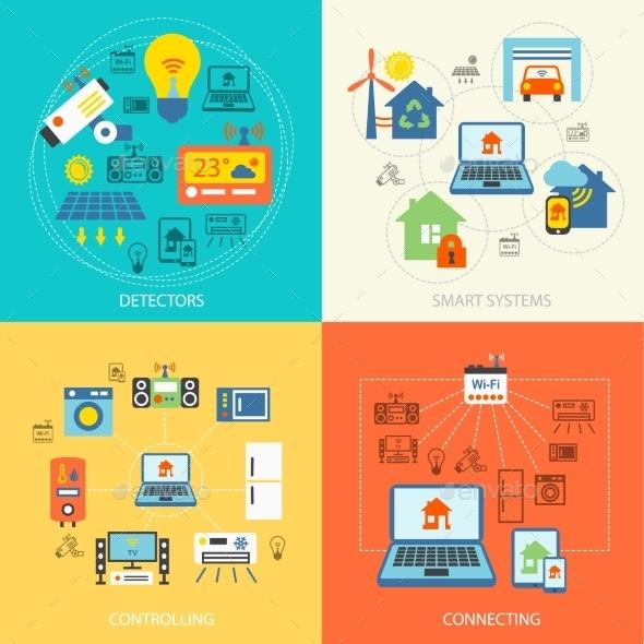 Smart Home Flat Set - Concepts Business