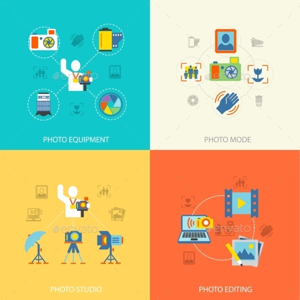 Photography Icons Flat - Concepts Business