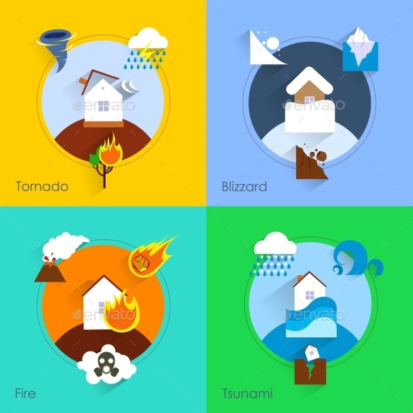 Natural Disaster Flat - Concepts Business