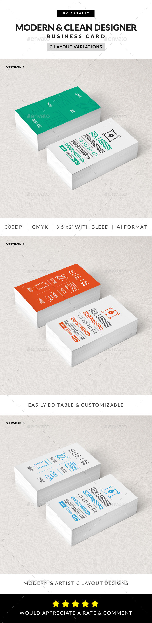 Creative & Modern Iconic Business Card - Creative Business Cards