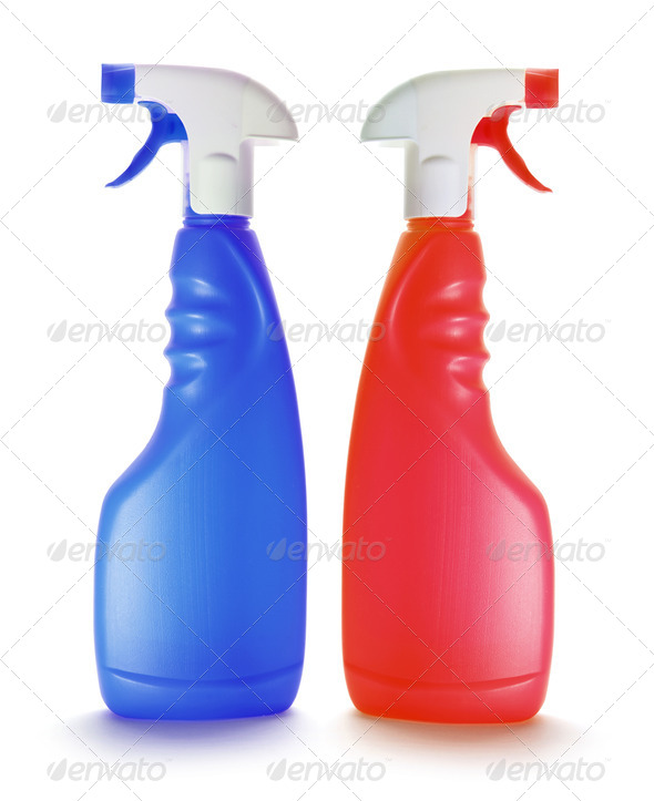 Spray Bottles - Stock Photo - Images
