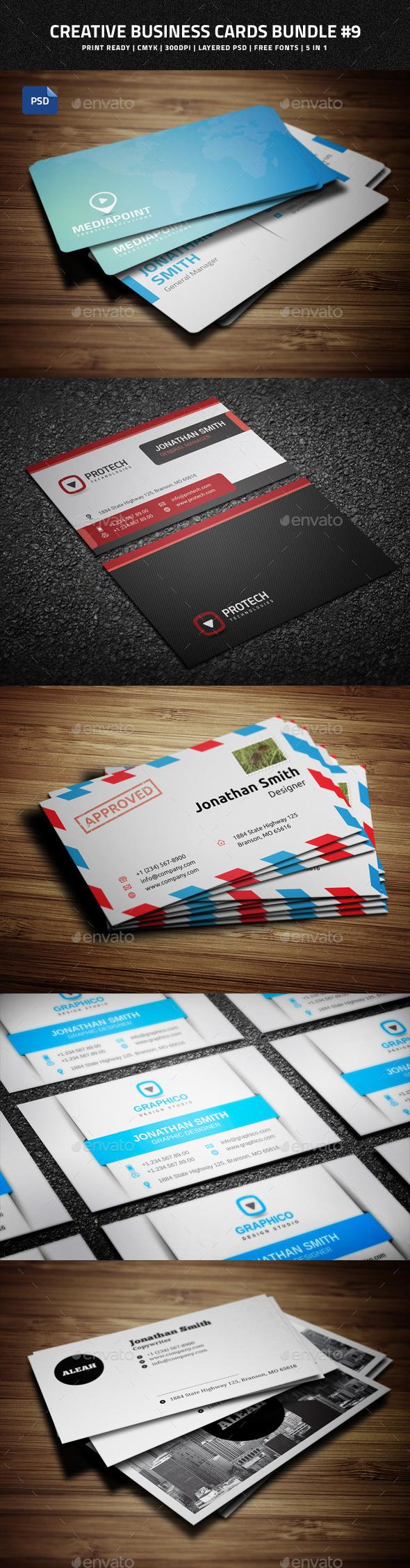 Creative Business Cards Bundle #9 - Creative Business Cards