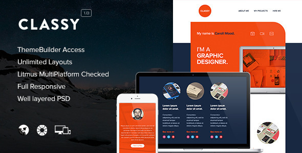 Classy – Responsive Email + Themebuilder Access