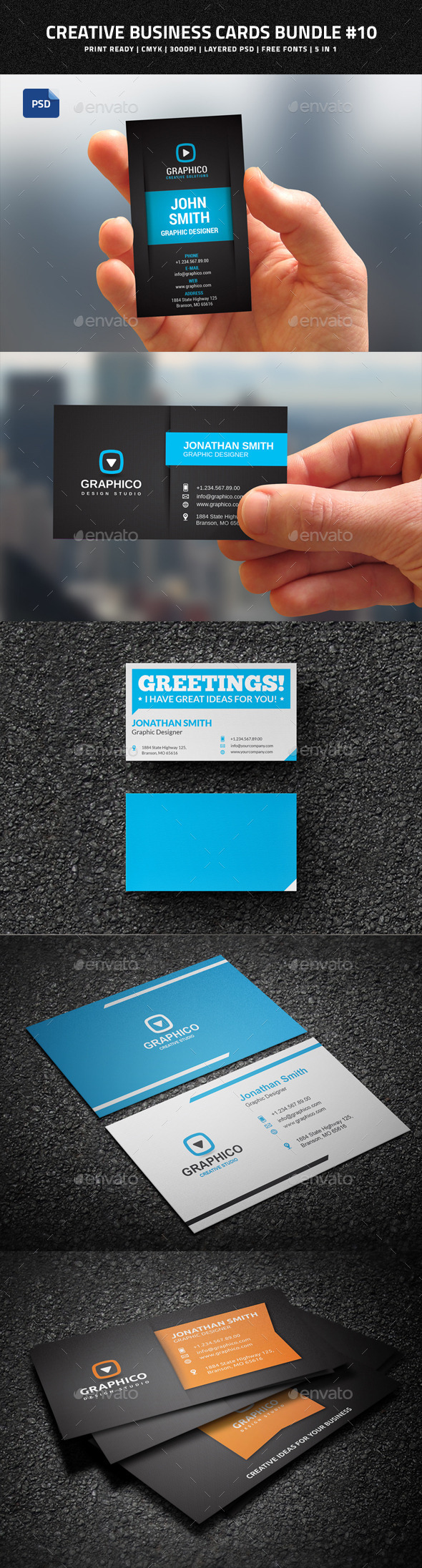Creative Business Cards Bundle #10 - Creative Business Cards