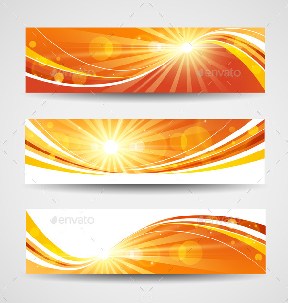 Autumn Banners Set - Seasons Nature