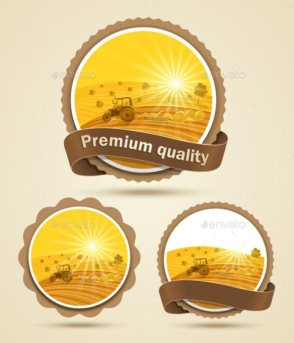 Cereal Harvest Label - Seasons Nature