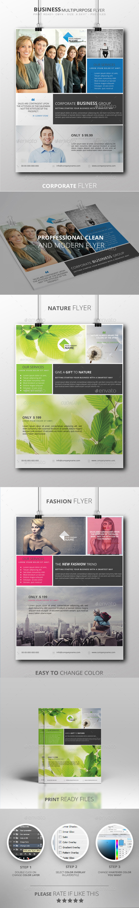 Business Multipurpose Flyer - Flyers Print Templates