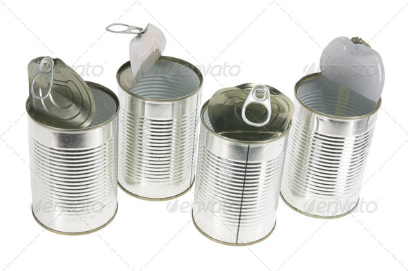 Empty Tin Cans - Stock Photo - Images