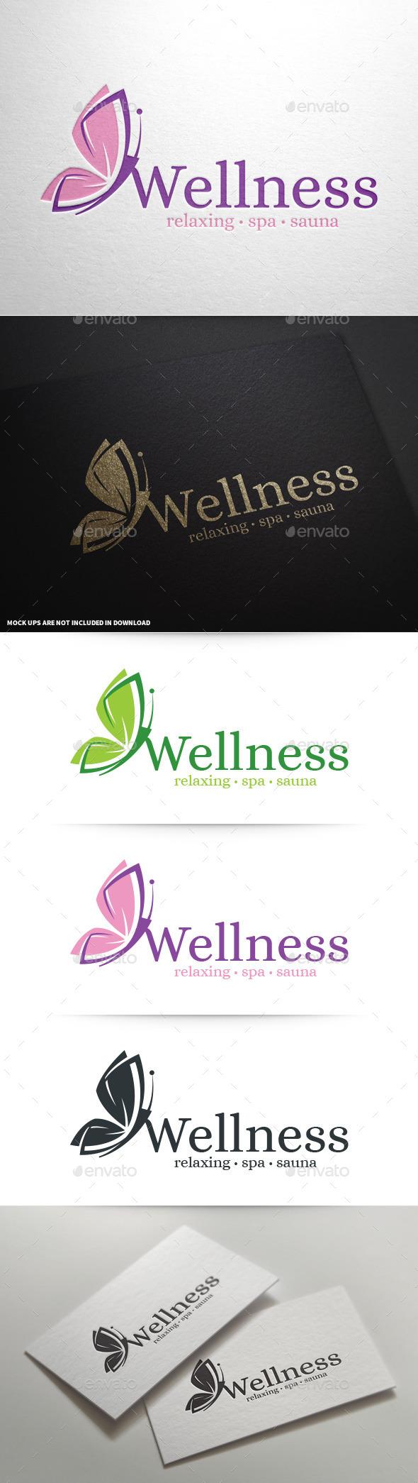 Wellness - Butterfly Logo - Animals Logo Templates