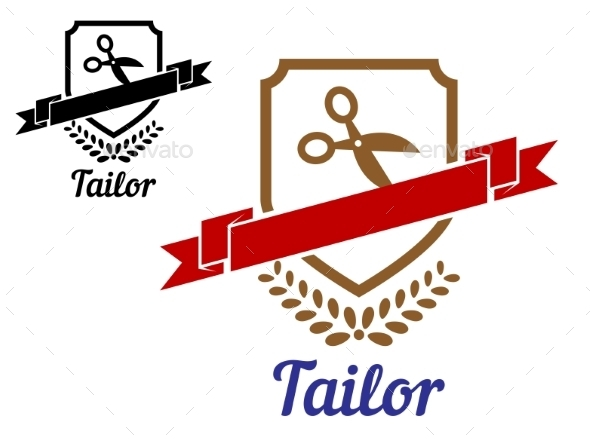 Tailor or Sewing Emblem - Retail Commercial / Shopping