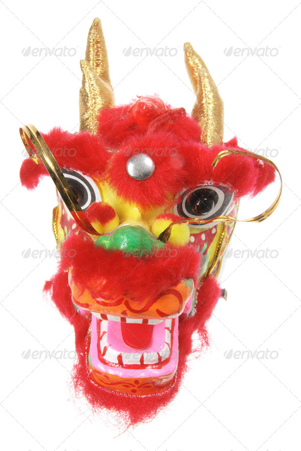Chinese Dragon Head Ornament - Stock Photo - Images