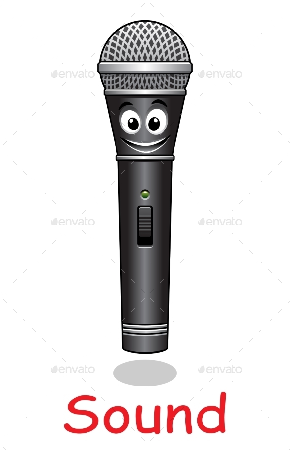 Cartoon Microphone Character - Miscellaneous Characters