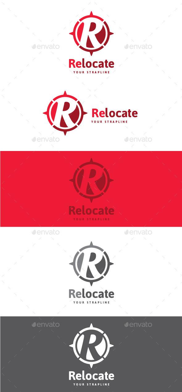 Relocate Letter R Logo - Letters Logo Templates