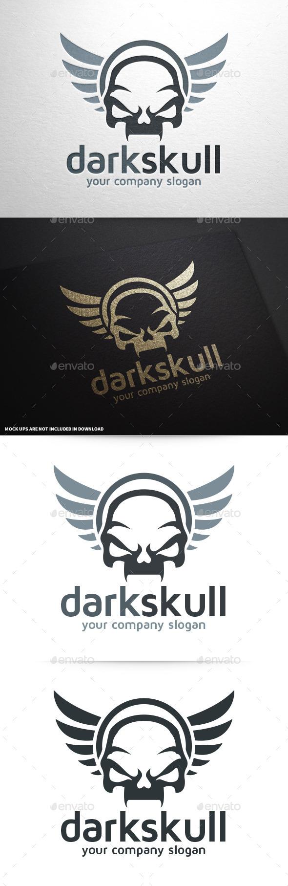 Dark Skull Logo Template - Abstract Logo Templates