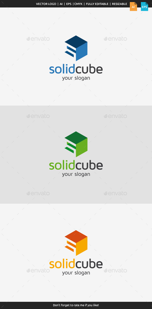 Solid Cube Logo - Letters Logo Templates