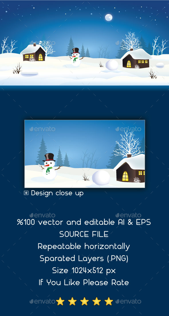 Snow Game Background - Backgrounds Game Assets