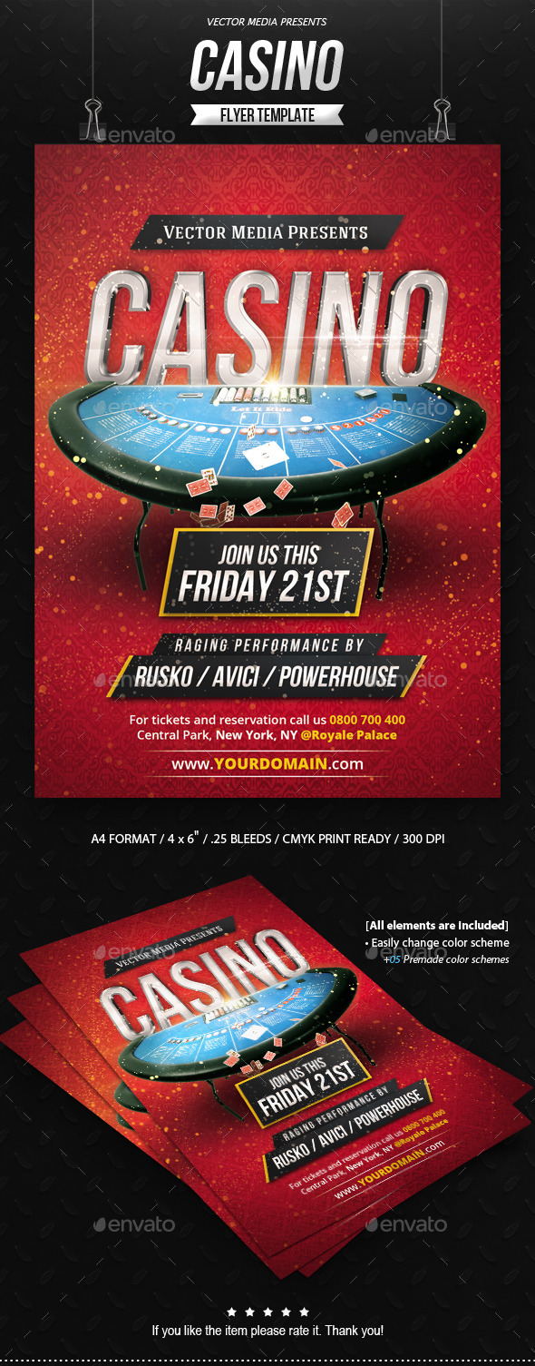 Casino - Flyer - Clubs & Parties Events