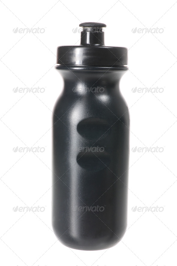Black Plastic Flask - Stock Photo - Images