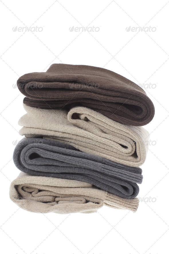 Stack of Men's Socks - Stock Photo - Images
