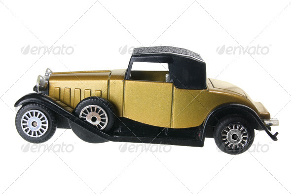 Antique Model Car - Stock Photo - Images