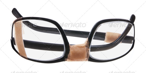 Broken Eyeglasses - Stock Photo - Images