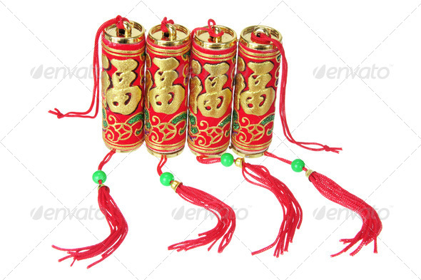 Chinese New Year Firecrackers - Stock Photo - Images