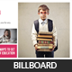 Kids School Education Billboard Template