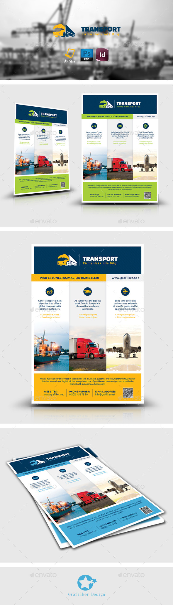 Transport Flyer Templates - Corporate Flyers