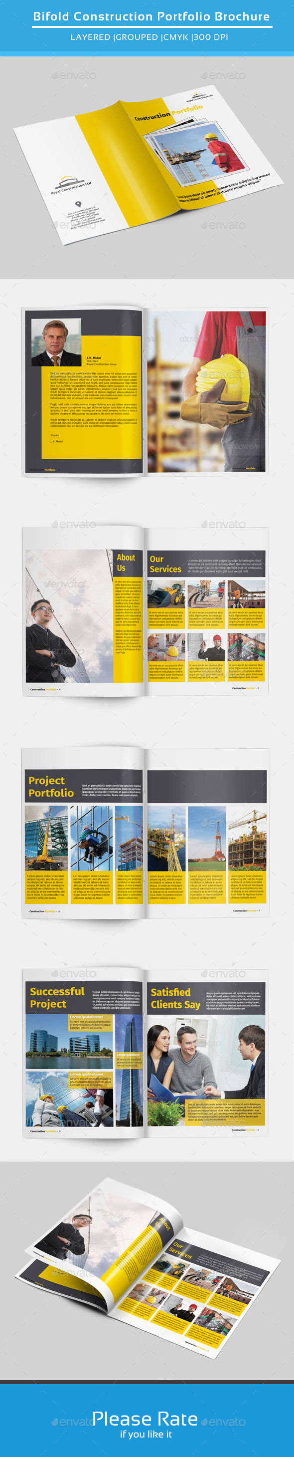 Bifold Brochure for Construction-V141 - Corporate Brochures