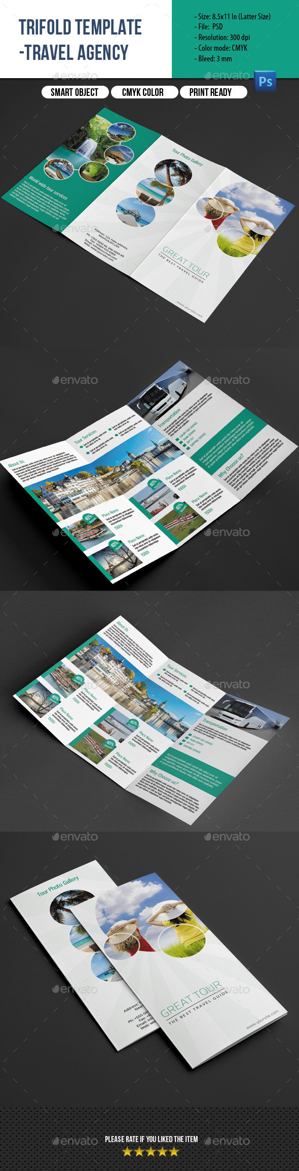 Travel Agency Trifold Brochure - Corporate Brochures