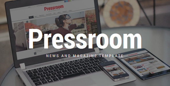 Pressroom - Responsive News and Magazine Template - Entertainment Site Templates
