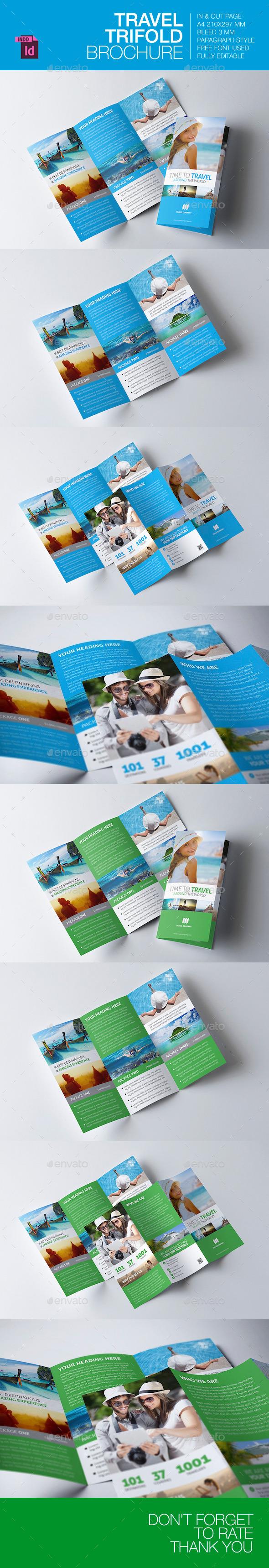 Travel Trifold Brochure V.3 - Brochures Print Templates