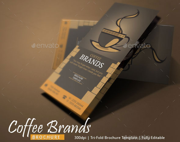 Coffee Brochure Template By Blogankids  Graphicriver