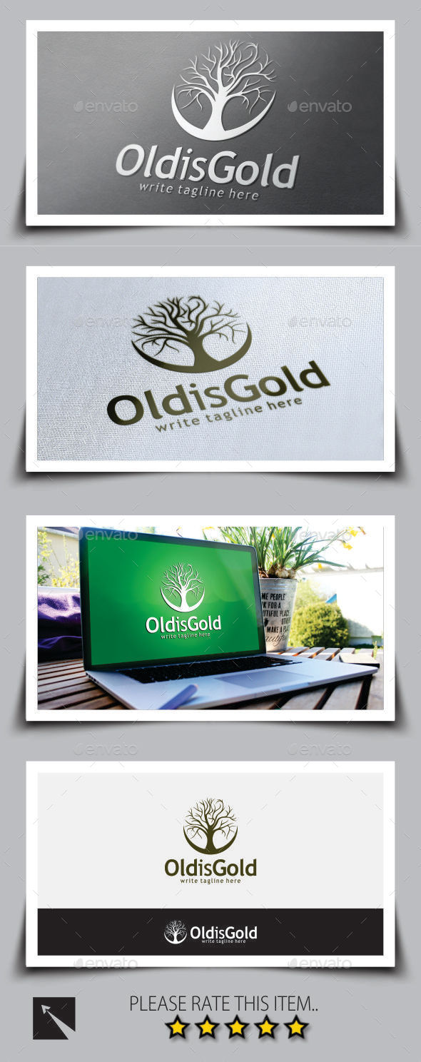 Old Tree Logo Template - Nature Logo Templates