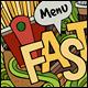 3 Fast Food Doodles Designs