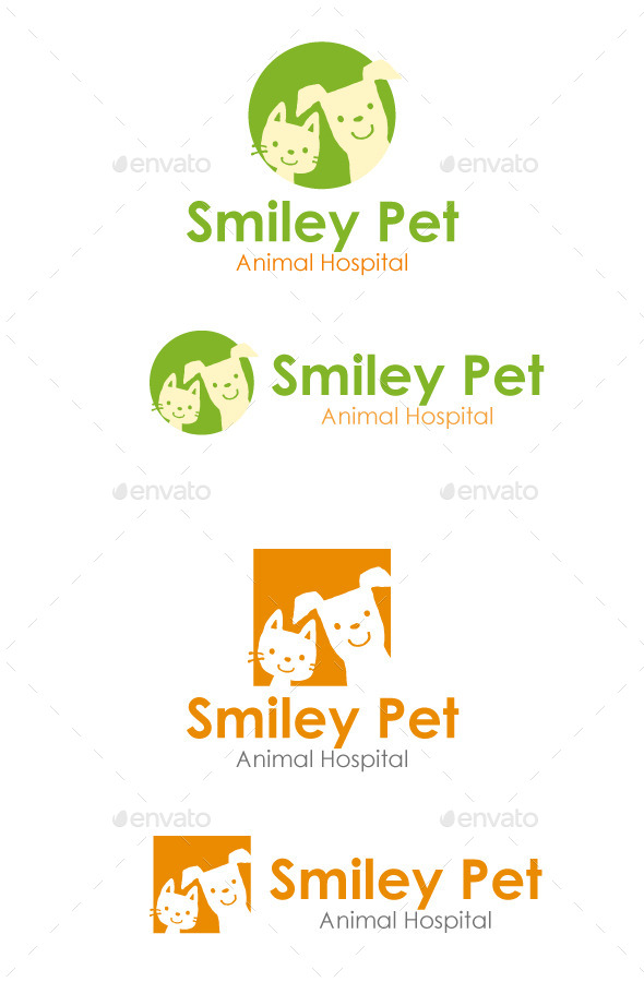 Smiley Pet - Animals Logo Templates