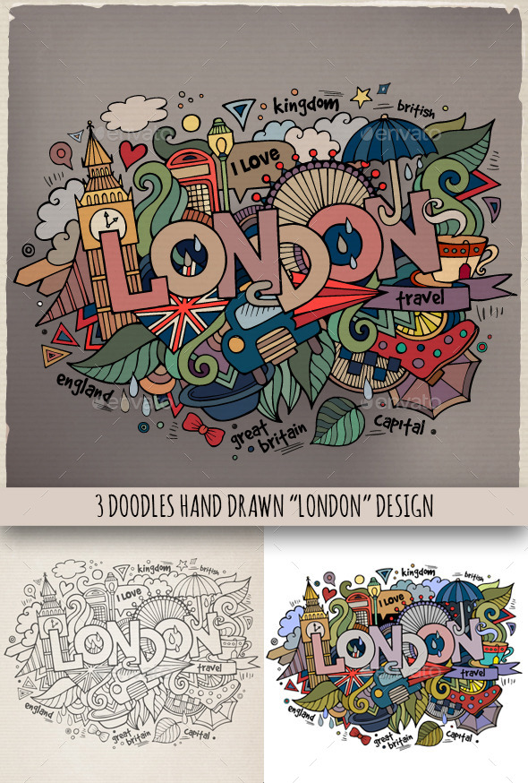 London Doodles Designs - Travel Conceptual