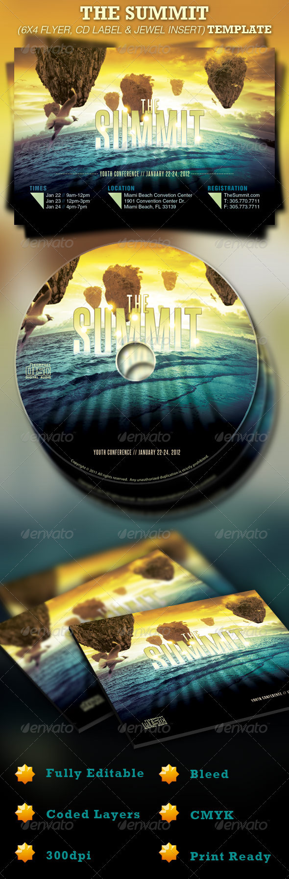 The Summit Church Flyer and CD Template - Church Flyers