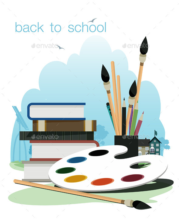 Back to School - Objects Vectors