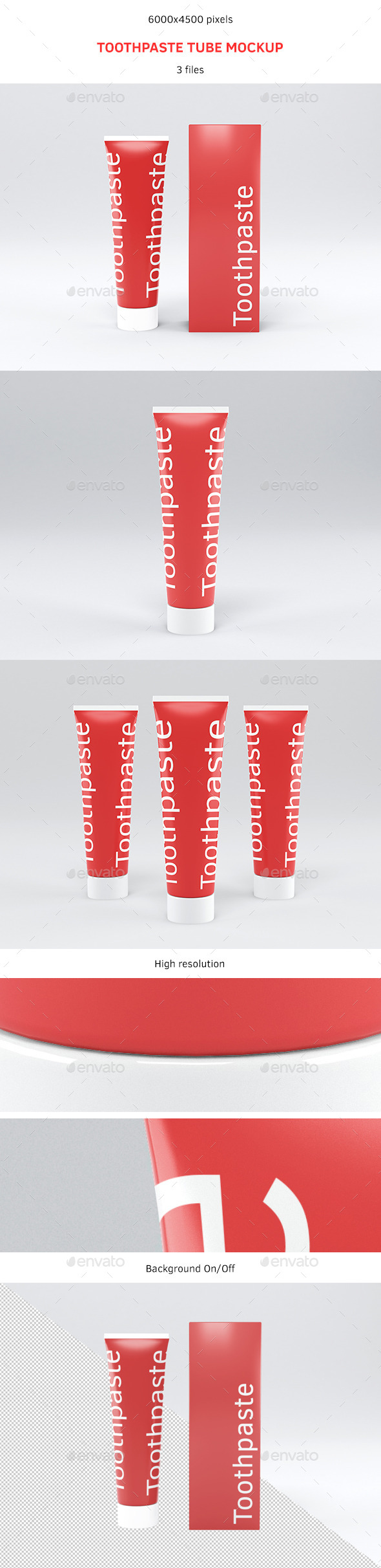 Toothpaste Tube Mockup - Miscellaneous Packaging