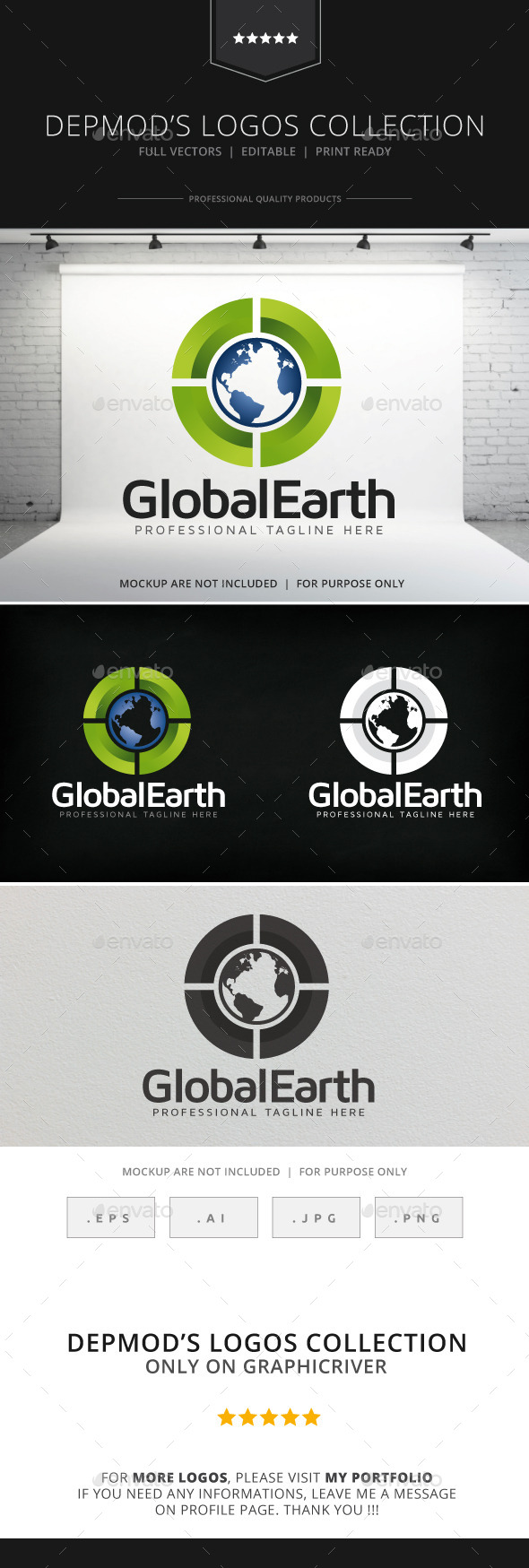 Global Earth Logo - Symbols Logo Templates
