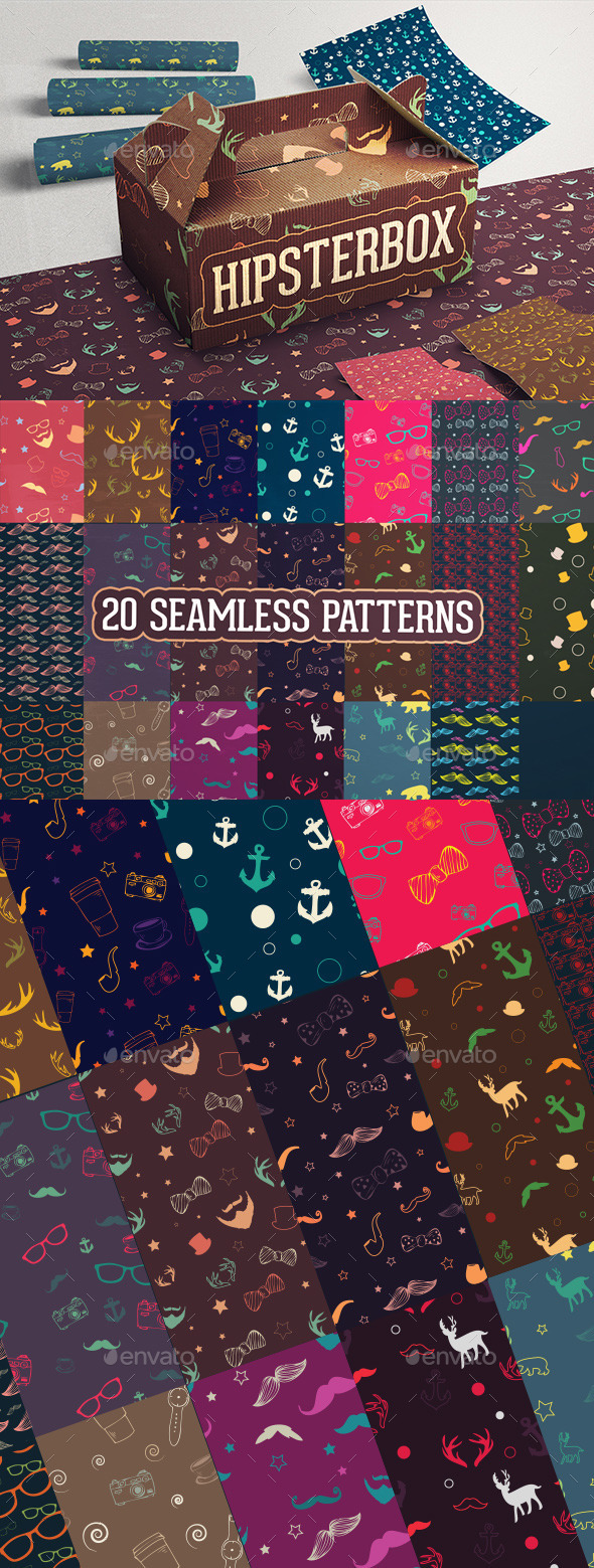 HipsterBox Seamless Patterns - Patterns Decorative