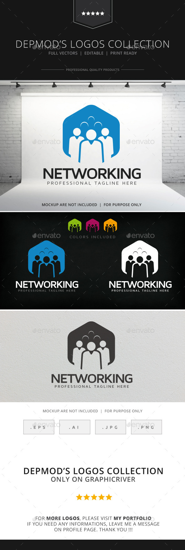 Networking Logo - Humans Logo Templates