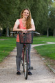 Young woman with a bike - PhotoDune Item for Sale