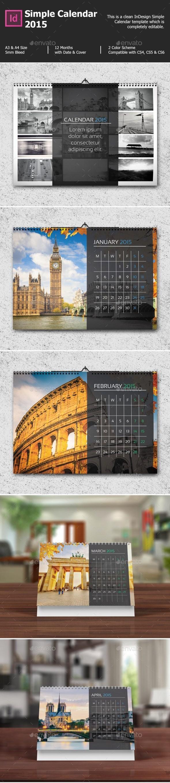 Simple Calendar 2017 - Calendars Stationery