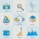 Flat Icons Set of Business Processes  - GraphicRiver Item for Sale