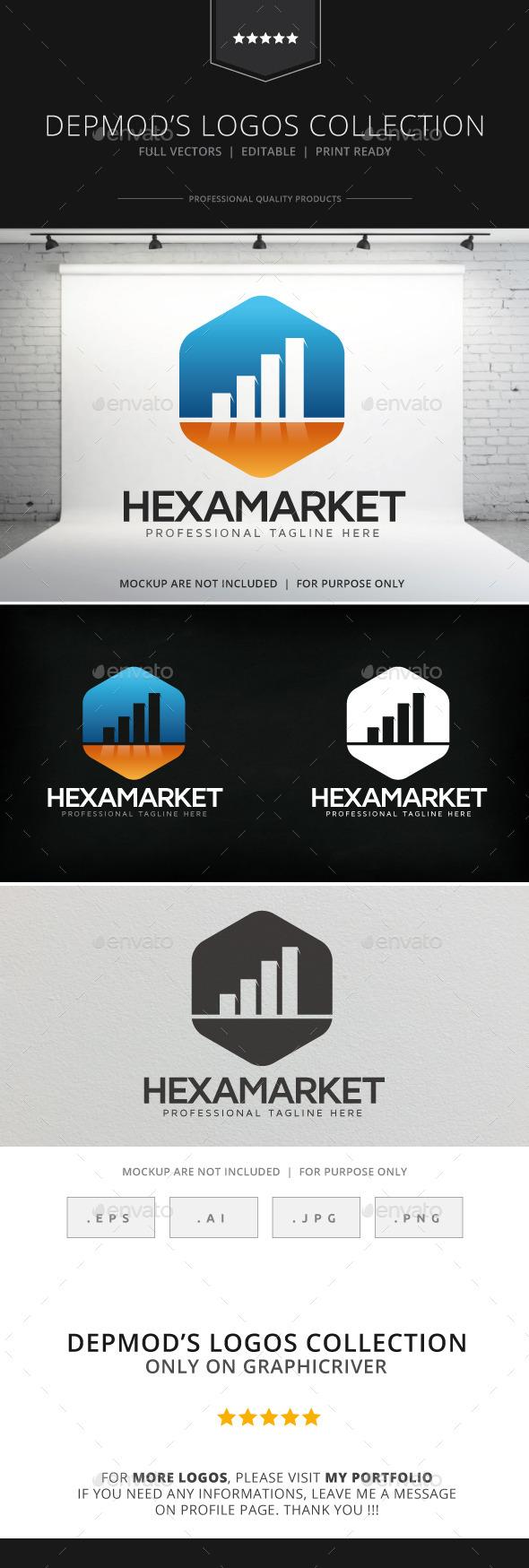 Hexa Market Logo - Symbols Logo Templates